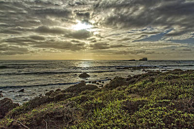 Photograph - Point Piedras Blancas Sunset 1 by Jim Moss