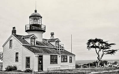 Photograph - Point Pinos Lighthouse By Diana Sainz by Diana Raquel Sainz