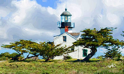 Point Pinos Lighthouse - Pacific Grove Ca Art Print
