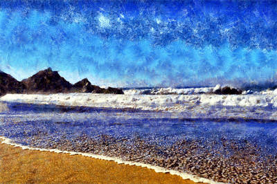 Digital Art - Point Reyes Beach by Kaylee Mason