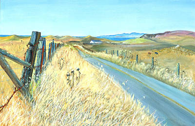 Art Print featuring the painting Point Reyes Country Road by Asha Carolyn Young