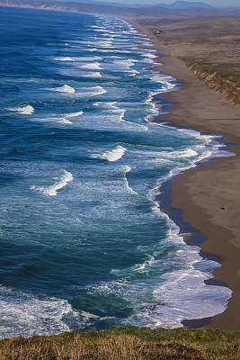 Shoreline Photograph - Point Reyes Long Beach by Garry Gay