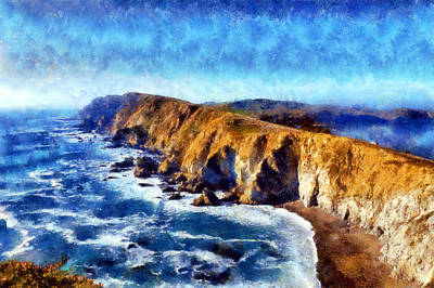 Digital Art - Point Reyes National Seashore by Kaylee Mason