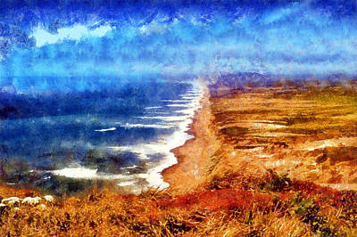 Digital Art - Point Reyes National Shoreline by Kaylee Mason