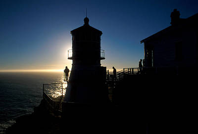Lighthouse Photograph - Point Reyes Silhouette by Jerry McElroy
