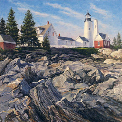 Rocks. Tidal Pool Painting - Point Rocks by Will Kefauver