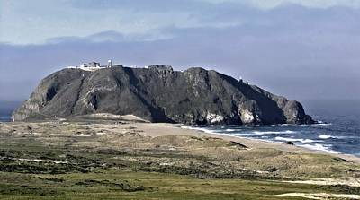 Photograph - Point Sur And Lighthouse by Elery Oxford