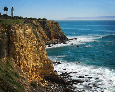 Photograph - Point Vicente Bluffs by Timothy Bulone