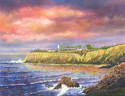 Painting - Point Vicente Lighthouse by Douglas Castleman