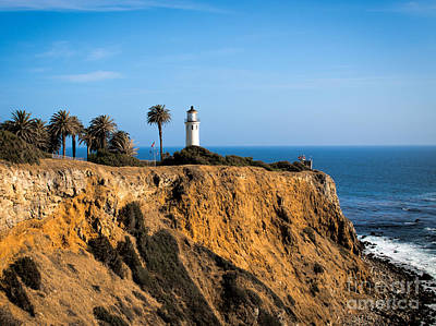Print featuring the photograph Point Vicente Lighthouse by Eleanor Abramson