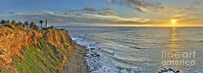 Palos Verdes Cove Photograph - Point Vicente Sunset by Nick Carlson