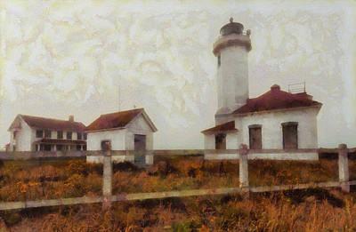 Digital Art - Point Wilson Lighthouse by Mark Kiver