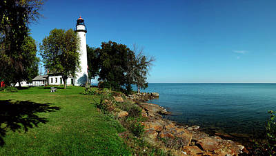 Huron Coast Photograph - Pointe Aux Barques Lighthouse, Lake by Panoramic Images