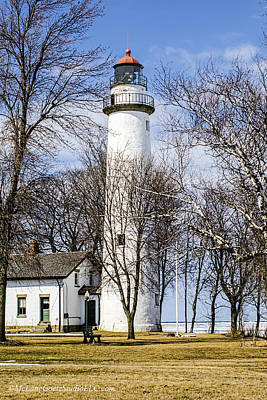 Photograph - Pointe Aux Barques  Lighthouse by LeeAnn McLaneGoetz McLaneGoetzStudioLLCcom
