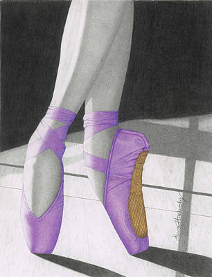 Pointe In Purple Art Print by Diana Hrabosky