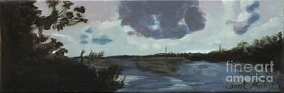 Pointe Of Chein Blue Skies Art Print