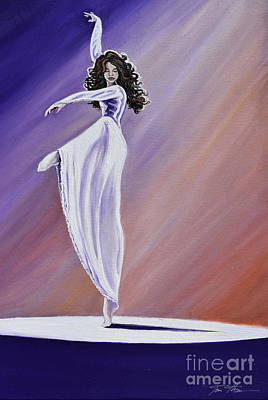 Solo Dancer Painting - Pointe Of Elegance by Toni  Thorne