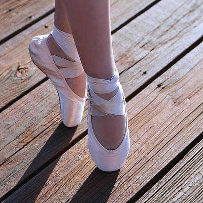 Wood Grain Photograph - Pointe Shoes by Laura Fasulo