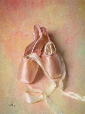 Shoe Digital Art - Pointe Shoes by Michael Petrizzo