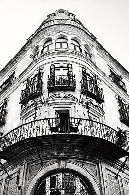Photograph - Pointed Neo-classical Building Facade In Seville Spain by Angela Bonilla