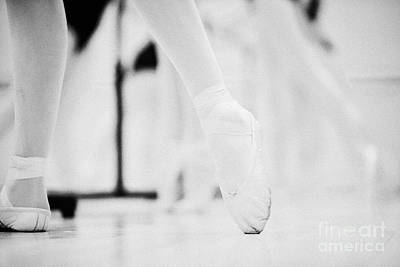 Pointed Toe In Ballet Slippers At A Ballet School In The Uk Art Print by Joe Fox