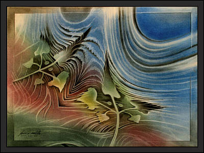 Pastel - Pointedleavescape '10  by Glenn Bautista