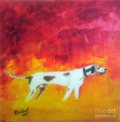 Painting - Pointer Grand Champion 1 by Richard W Linford