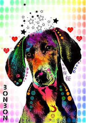 Dog Abstract Art Digital Art - Pointer by Mark Ashkenazi