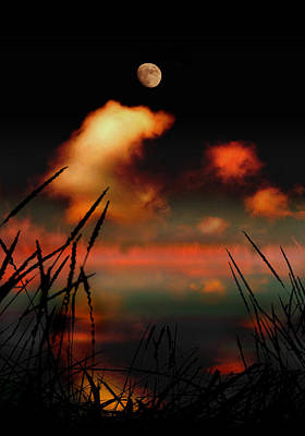 Pointing At The Moon Art Print
