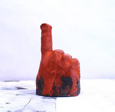 Pointing Finger Of Blame - Lava Art Print by Mark M  Mellon
