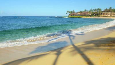 Poipu Photograph - Poipu Beach, Kauai, Hawaii by Douglas Peebles