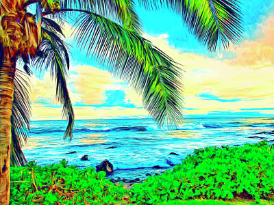 Poipu Sunrise Art Print
