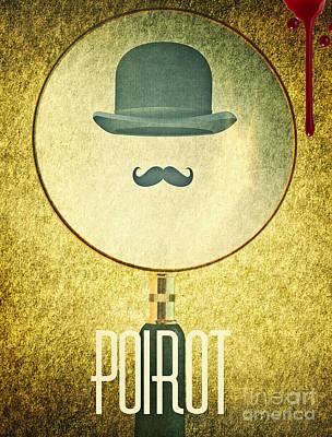 Scary Digital Art - Poirot by Binka Kirova