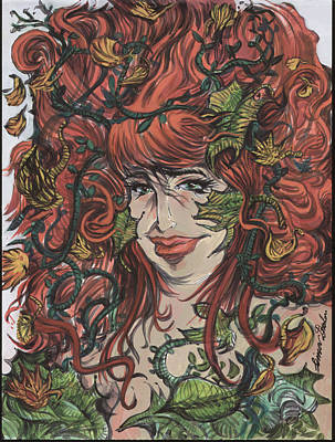 Painting - Poision Ivy Lady Of The Autumn 01 by Simon Drohen