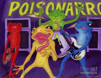 Drawing - Poison-arrow Frog Band by Samantha Geernaert