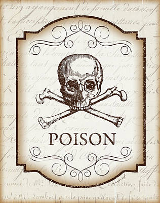 Halloween Sign Painting - Poison by Jennifer Pugh