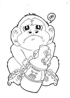Poison Monkey Original by Murni Ch