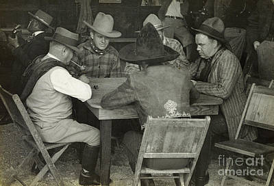 Photograph - Poker 1935 by Patricia  Tierney