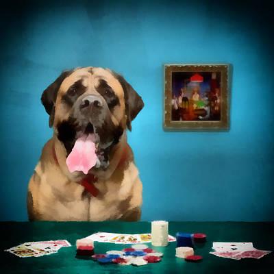Poker Anyone Art Print by Angel Pachkowski