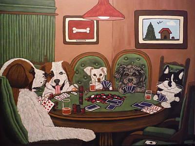 Poker Buddies Art Print by Tammy Rekito