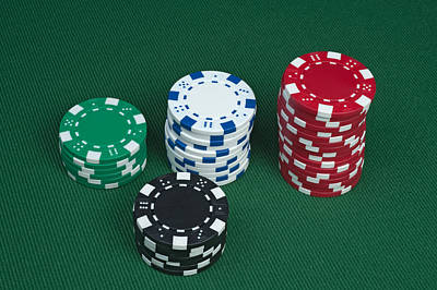 Photograph - Poker Chips by Marek Poplawski