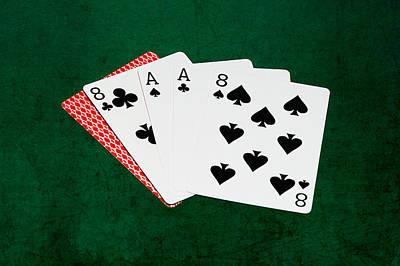 Winning Combination Photograph - Poker Hands - Dead Man's Hand V.2 by Alexander Senin
