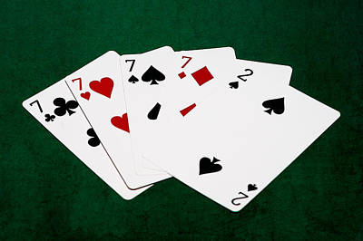 Poker Hands - Four Of A Kind 2 V.2 Art Print by Alexander Senin