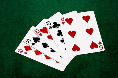 Winning Combination Photograph - Poker Hands - Four Of A Kind 4 V.2 by Alexander Senin