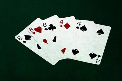 Winning Combination Photograph - Poker Hands - Full House 3 by Alexander Senin