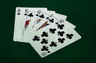 Winning Combination Photograph - Poker Hands - Royal Flush 2 by Alexander Senin