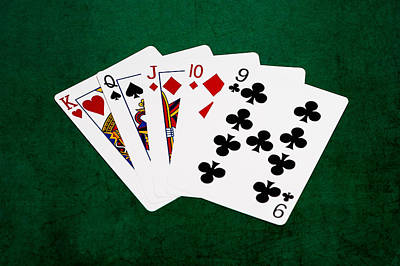 Winning Combination Photograph - Poker Hands - Straight 1 V.2 by Alexander Senin