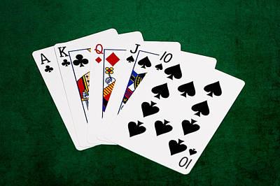 Winning Combination Photograph - Poker Hands - Straight 3 V.2 by Alexander Senin