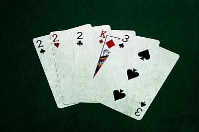 Three Of A Kind Photograph - Poker Hands - Three Of A Kind 1 by Alexander Senin