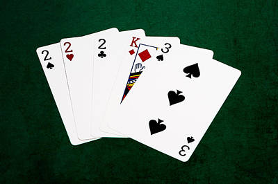 Three Of A Kind Photograph - Poker Hands - Three Of A Kind 1 V.2 by Alexander Senin